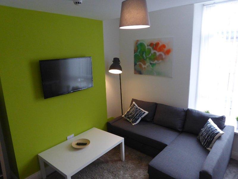 sala de estar con sofá-cama doble