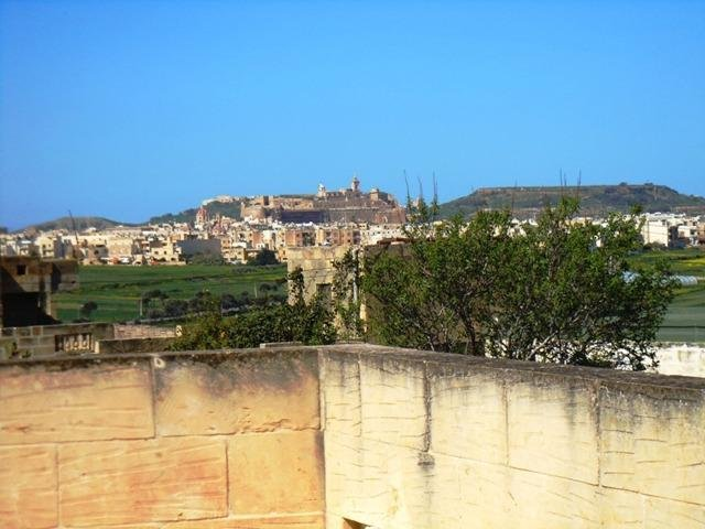Zoomed view of Citadel fortification from DUN NASTAS holiday house roof terrace