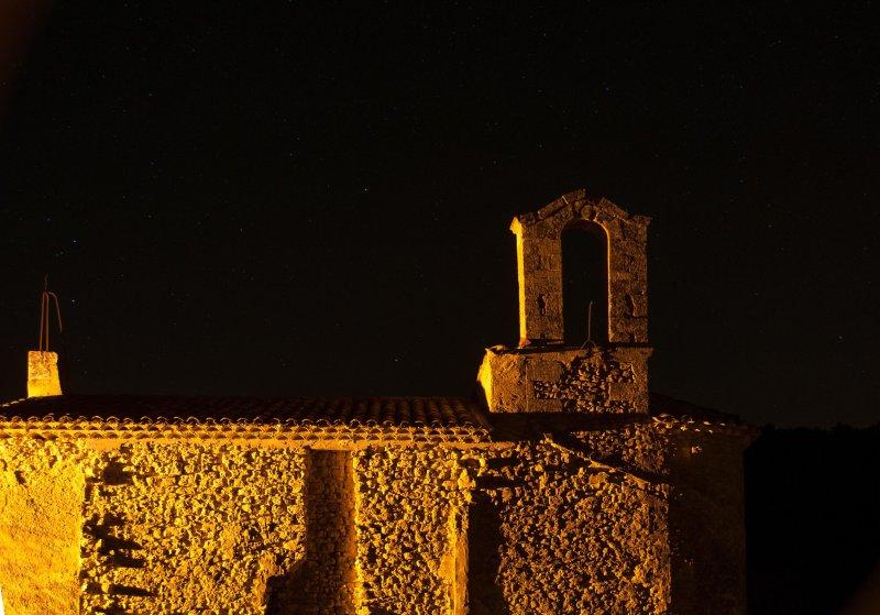 vista desde la terraza por la noche