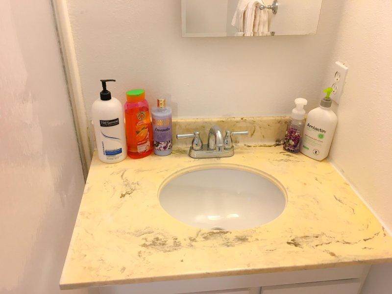 Shampoo e condicionador fornecidos