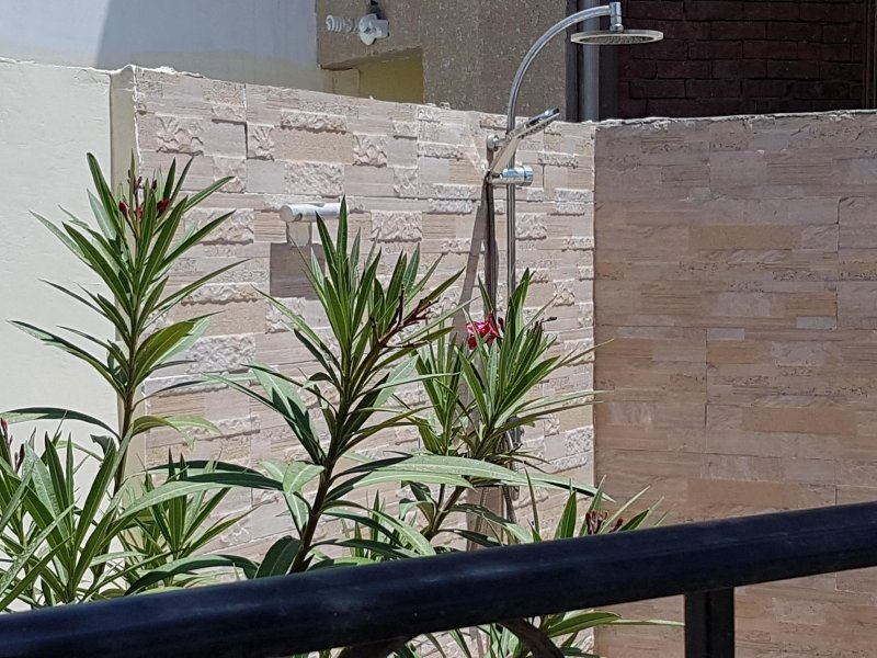 Shower on the roof terrace