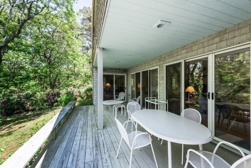 Partly Shady Deck and Outdoor Dining Area