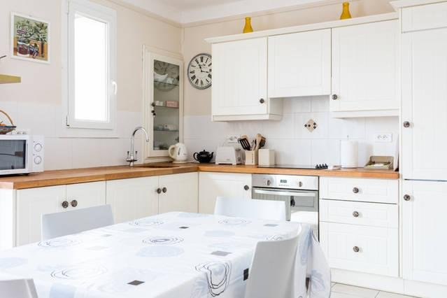 Bright modern kitchen sunny south west facing