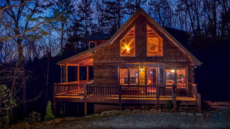 Red Apple Cabin Atop The Blue Ridge Mountains Of Ga Spa