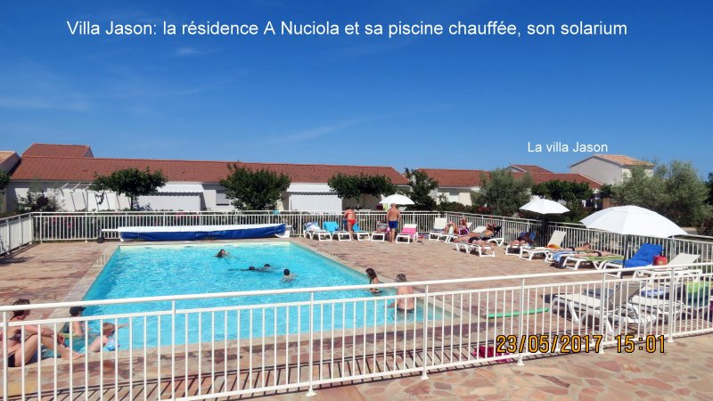Mini villa classée 3* à 100 m de la mer, piscine chauffée, holiday rental in San Giuliano