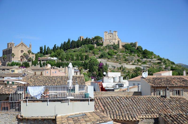 Vistas de Sant Salvador desde la terraza del primer piso.
