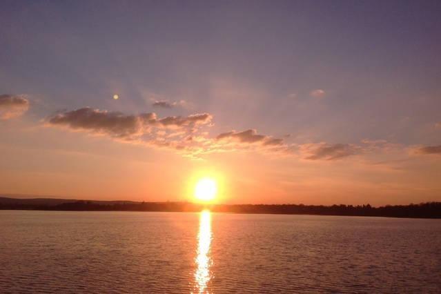 sunset on Lough Derg, Portumna
