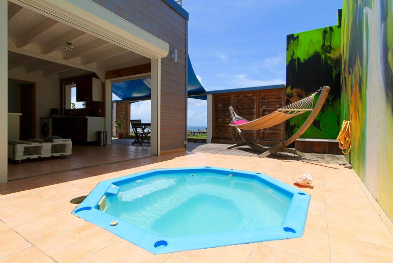 TERRATHELY *****, vue mer, piscine privative, Ferienwohnung in Grande-Terre Island