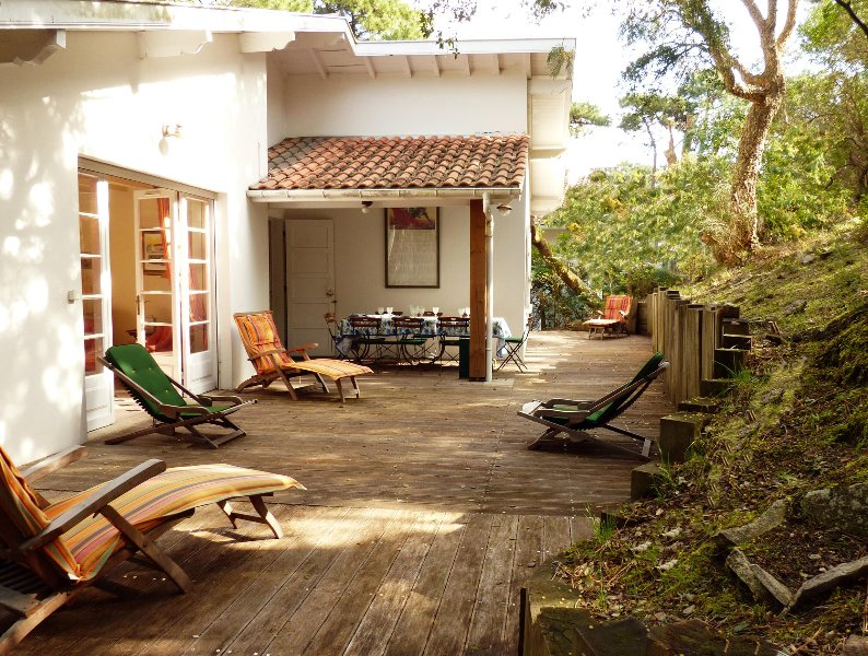 The terrace and garden