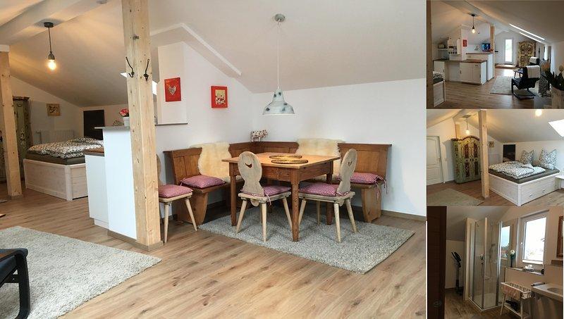 Apartamento Laurus acogedora sala de estar en Forggensee Bauer
