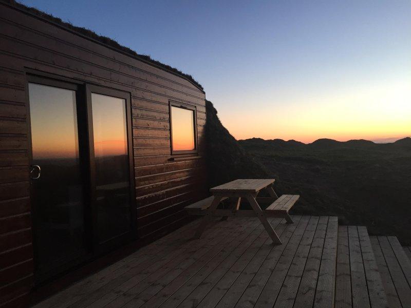 Ina's Storm-Pod at sunset