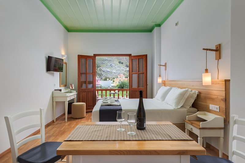 Superior Apartment with Private Veranda and Sea View B, holiday rental in Symi