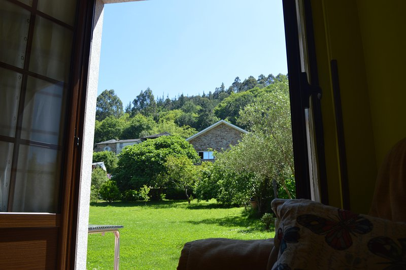 View from the apartment to the garden