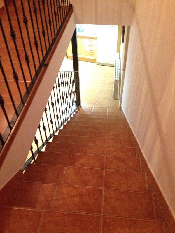 Escaleras para acceder a la segunda planta