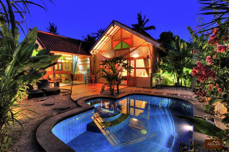 Villa Samalama one bedroom private pool Gili Air, vacation rental in Lombok