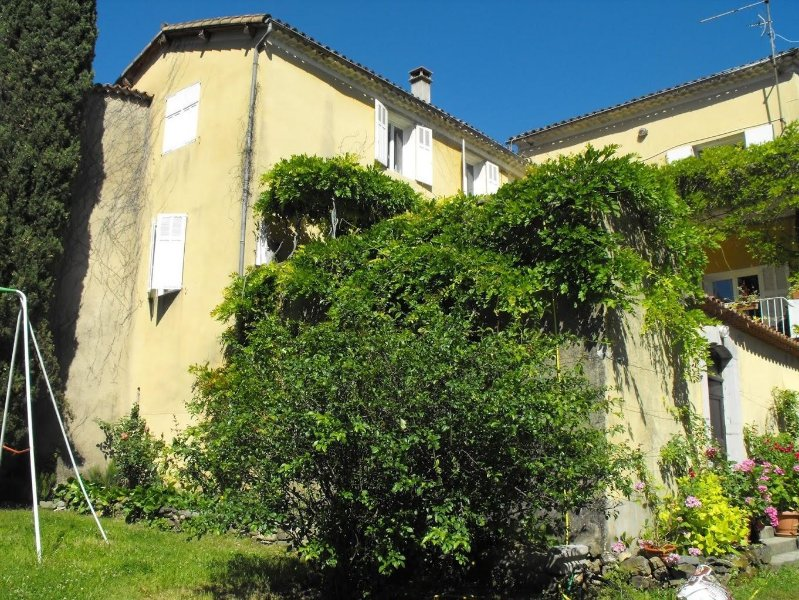 Front of the House. Built in around 1964 on the original caves of a chateau. The walls are 3 1/2 ft