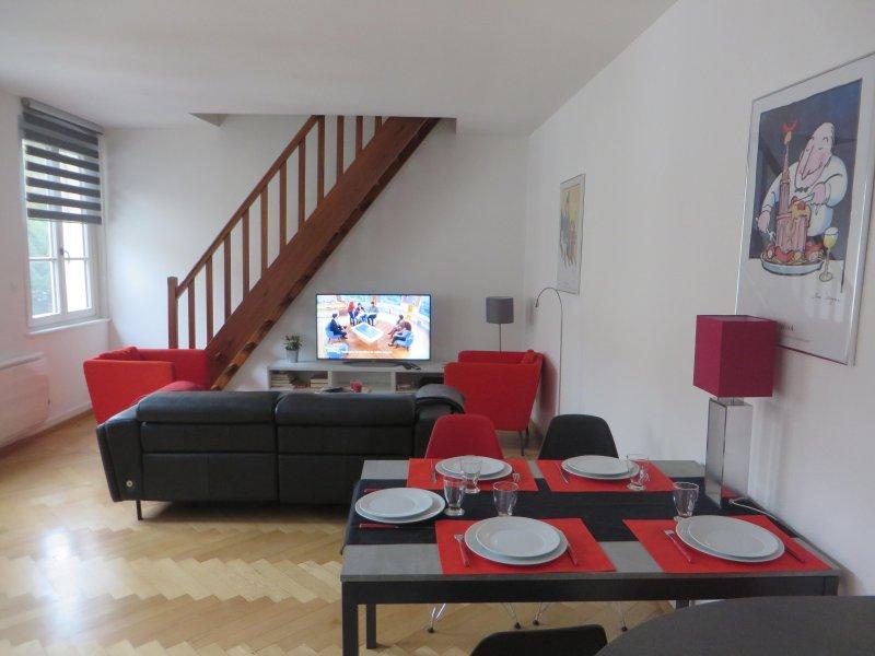 Centre ville 74 m²,  Parking privée, 400 m cathédrale, 4 étoiles de la ville, location de vacances à Strasbourg