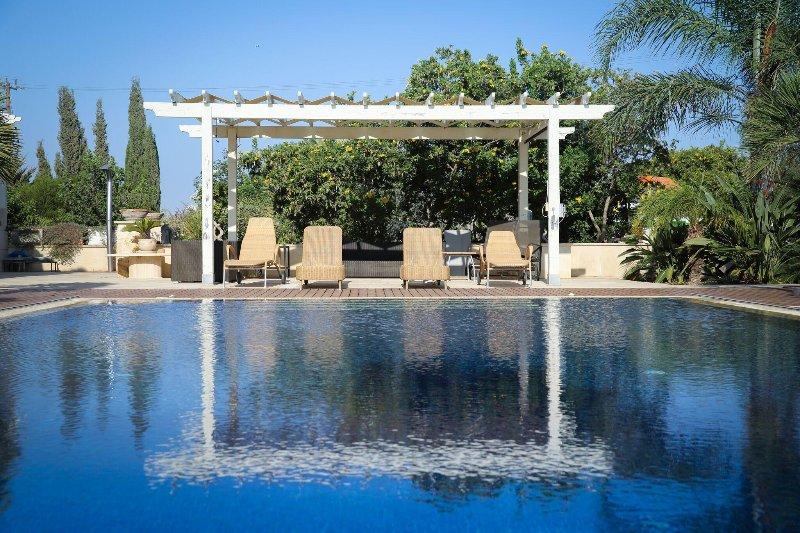 Luxurious private house near the sea, alquiler de vacaciones en Mazotos