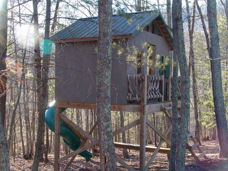La casa del árbol y de diapositivas proporcionan más divertida de experimentar durante su visita.