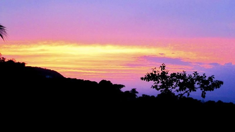 tramonto dal balcone