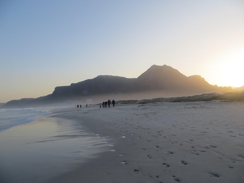 Muizenberg beach is a five minute walk from the cottage.  A beautiful place to walk, swim, and surf.