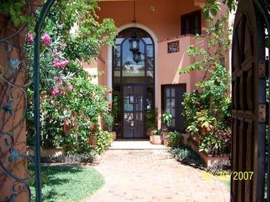 Entry front door thru gardens