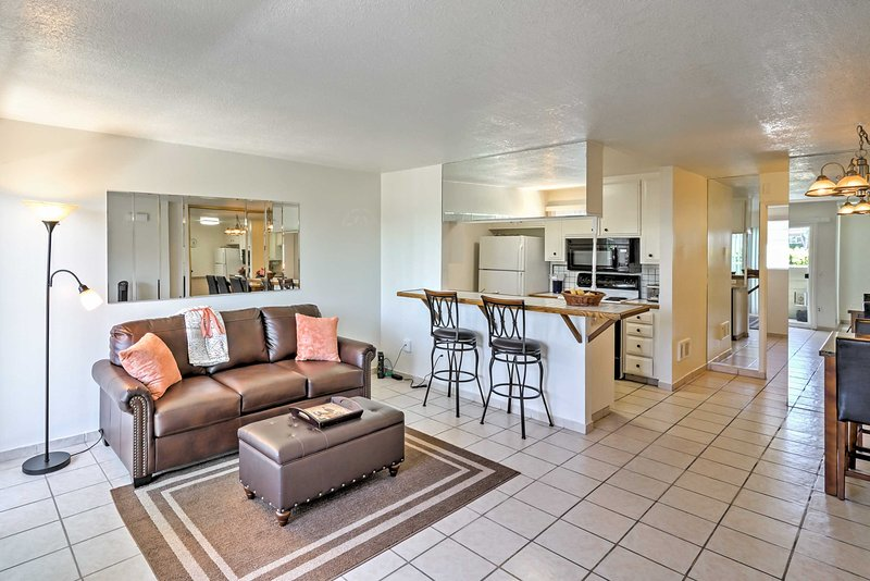 Elevate your California escape with this bright 1-bedroom, 1-bathroom Oceanside vacation rental condo, which sleeps 4.