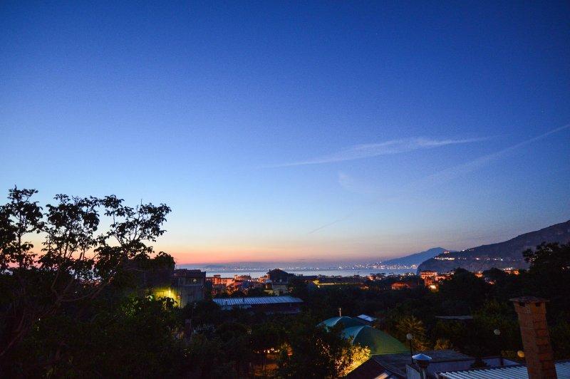 Vista dal solarium al tramonto