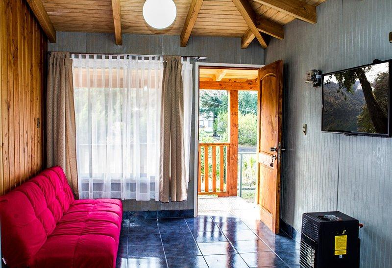 La première chambre, entrée et salon