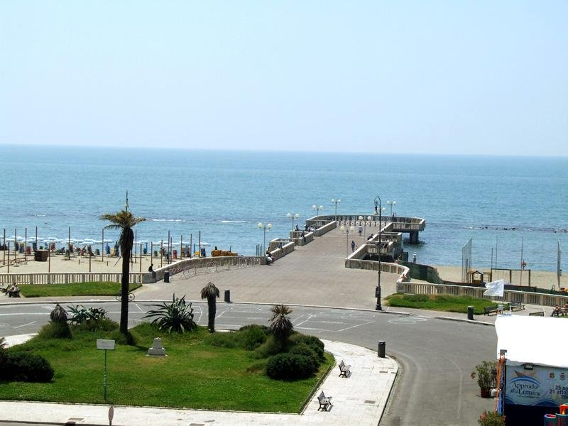 the pier and the sea of Ostia Lido