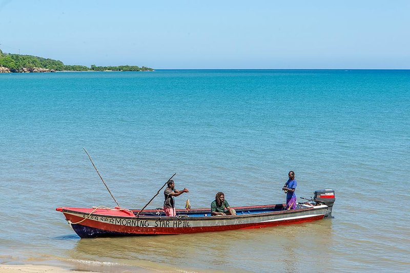 From the nearby fishing village, our neighboring fishermen ...