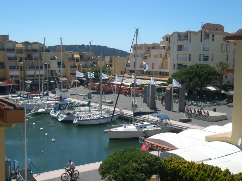 View of the marina from the balcony of the guest room