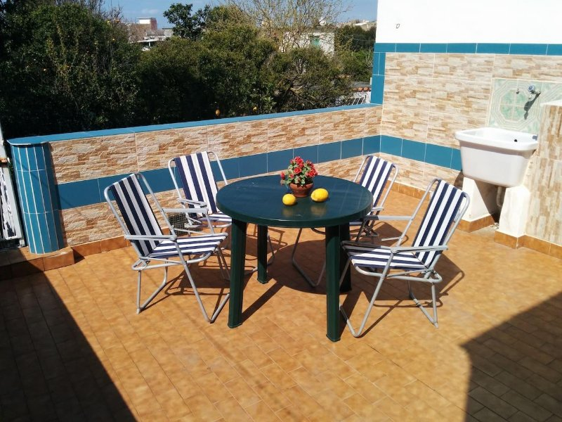 terrace with washboard
