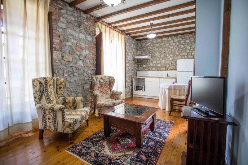 Vista Sala di soggiorno Peña You- in questo spazio sarebbe situato il divano letto
