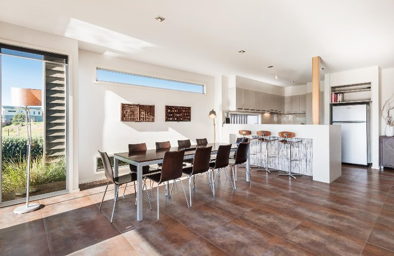 The dining area and well equipped kitchen is perfect for entertaining