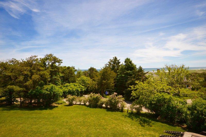 Vista do jardim da frente expansiva
