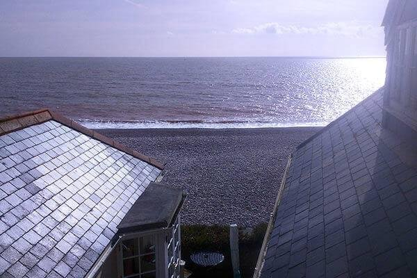 The Budleigh beach and sea view from your balcony.