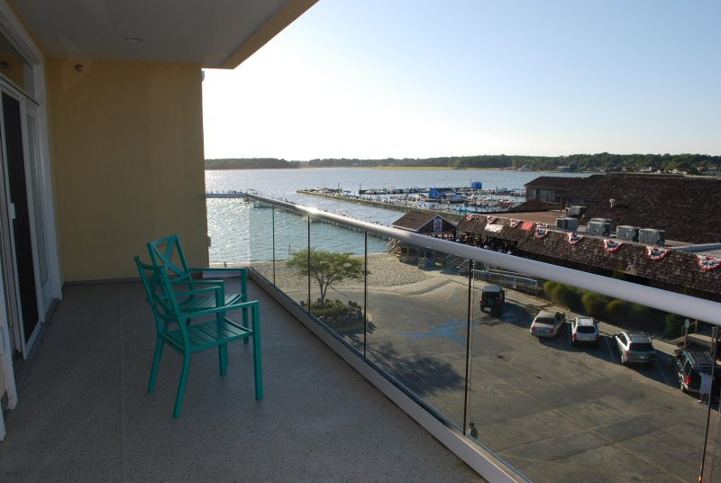 Bay view from private balcony