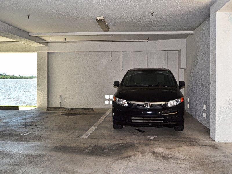 Assigned parking spot.