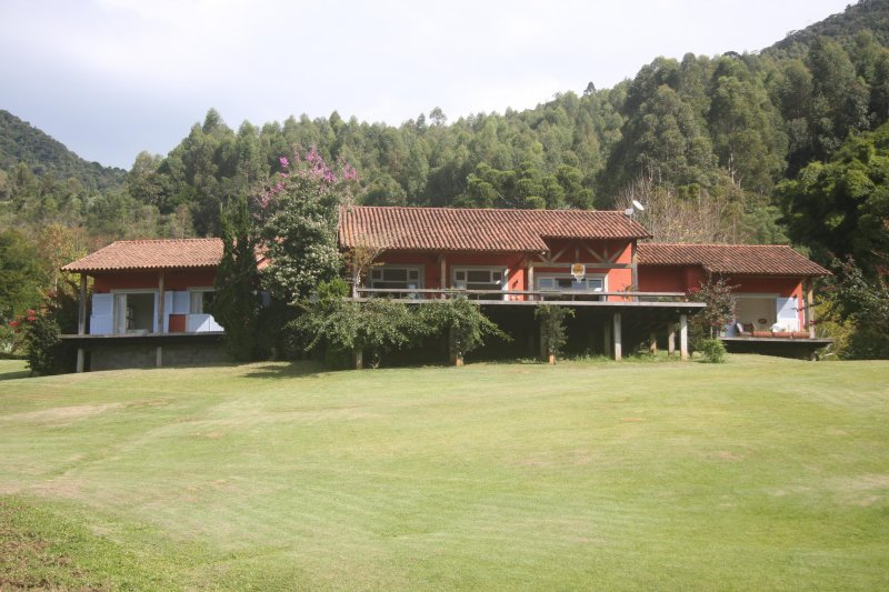 View of the house from the lawn
