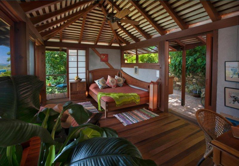 Coral Bay, St. John Islas Vírgenes de Estados Unidos Luna de miel / amantes de chalet dormitorio Vista - Casa de Té Casa del árbol