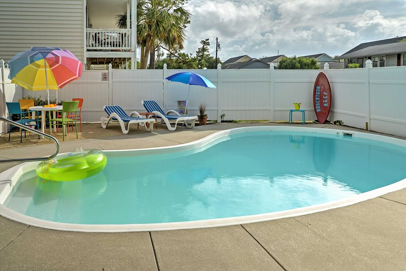 Gather your friends and family for a sun-filled getaway at this 5-bedroom, 5.5-bathroom Myrtle Beach vacation rental house.