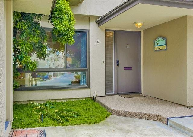 Front door to the townhome.