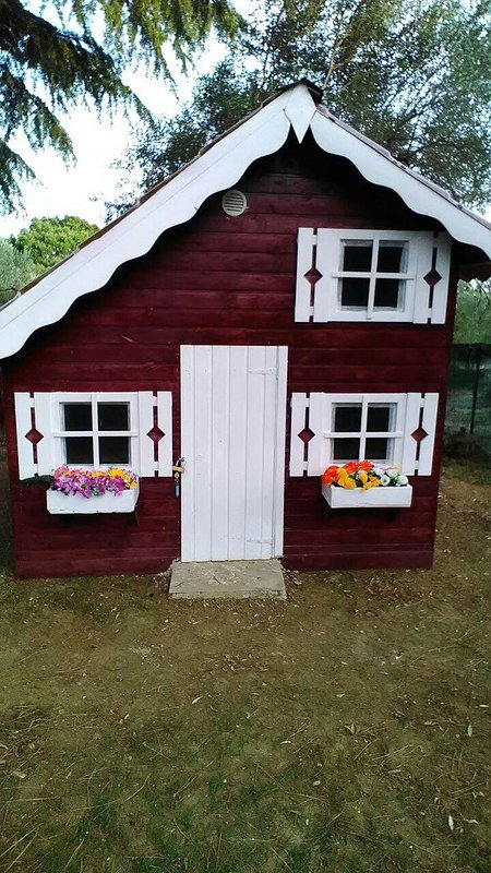 Wood playhouse for children