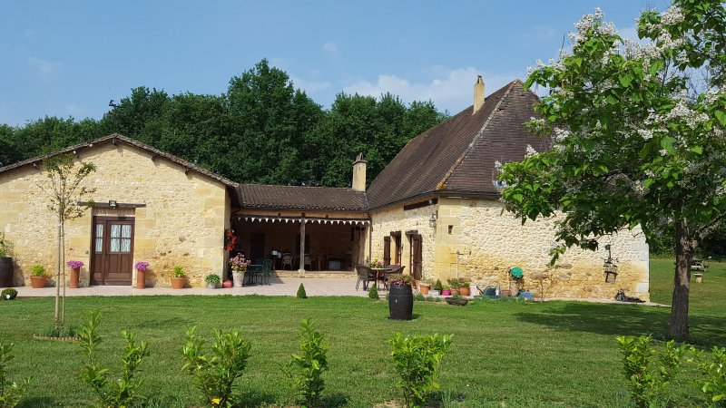 Lovely stone house & separate Gite set in five and a half acres with private plunge pool for guests