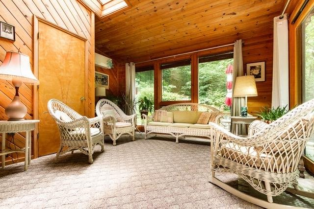 Sunroom with Antique wicker furniture from my family