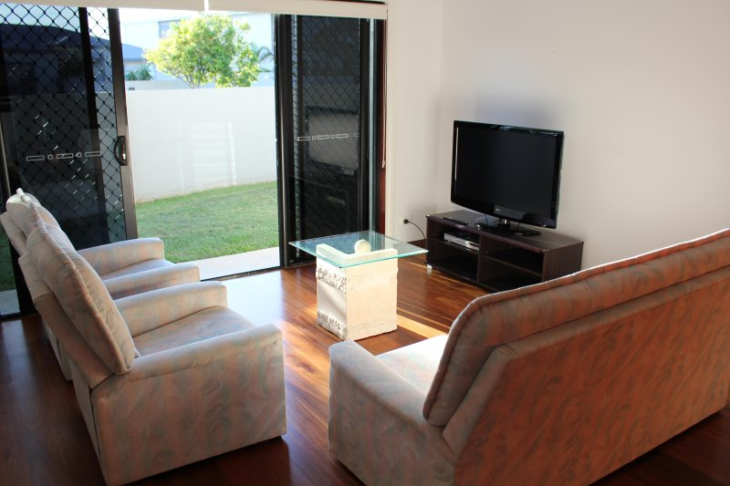 Modern unit with large sitting room