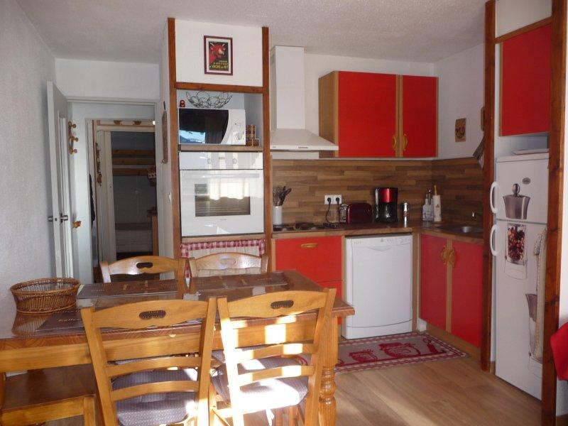 very functional kitchen corner