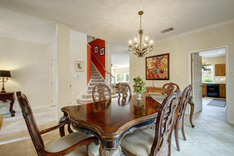 Beautifully Furnished and Updated Home Features This Formal Dining Area