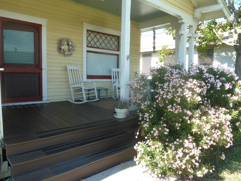 Spacious front porch for enjoying your morning coffee or relaxing with wine in the evening